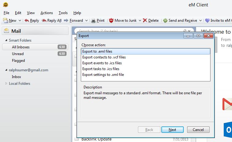 eM Client to Zimbra Converter ~ To convert eM Client emails to